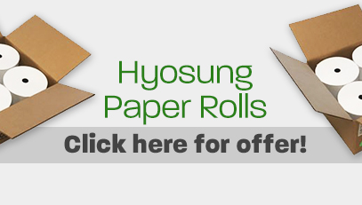 Hyosung Paper Rolls. Click to see offer.